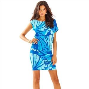 Lilly Pulitzer Tessa Dress Get Inky Large